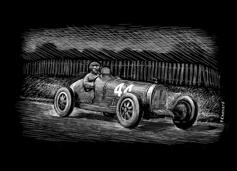 Étancelin - Bugatti T35C - '30 French GP